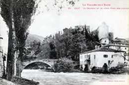 619B AXAT  LE CHATEAU ET LE VIEUX PONT - France