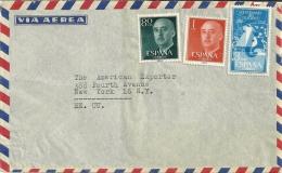 Espana 1955 >> USA - 1951-60 Lettres