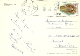 Espana 1974 Puerto Soller >> Mont St Aldegonde (B) / Europa Cept - 1931-Aujourd'hui: II. République - ....Juan Carlos I
