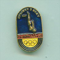 Olympic Pin -  Swimming Diving Pin USSR Moscow ´80 Olympic Games - Olympic Games