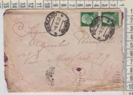 Regno  9/8/1930  Da Genzano Per Roma Busta Con Lettera Coppia Francobolli Centesimi 25 - Storia Postale