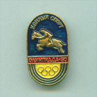 Olympic Pin -  Equestrian Pin USSR Moscow ´80 Olympic Games - Olympic Games