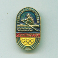 Olympic Pin -  GamesRowing Pin USSR Moscow'80 Olympic - Olympic Games