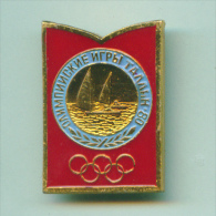 Olympic Pin -  SSport Pin USSR Sailing Event Moscow '80 Olympic Games - Type - Olympic Games