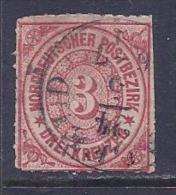 North German Confederation, Scott # 9 Used Numeral, 1868, Trimmed - North German Conf.