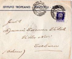 BUSTA POSTALE COMMERCIALE ISTITUTO TROPEANO -PONTICELLI-REGNO CENT .50-SPEDITA A CORBARA (SALERNO) - 1900-44 Vittorio Emanuele III