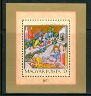 HUNGARY-1971.Souv.Sheet - Illuminated Chronicle Of King Louis The Great/History Of Hungary Mi.Bl.85 MNH!!! - Nuovi