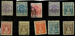 Pologne Y&t N°243.242.187.161.247.244.188.246.189.245.neuf Et Oblitérés(je Crois) - ....-1919 Provisional Government
