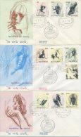 SAN MARINO - FDC ROMA  1976 - VIRTU´ CIVILI - ARTE - FDC