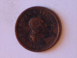 Grande-Bretagne 1/2 Half Penny 1807 - 1662-1816 : Anciennes Frappes Fin XVII° - Début XIX° S.