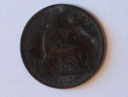 Grande-Bretagne 1/2 Half Penny 1876 H - 1816-1901 : Frappes XIX° S.