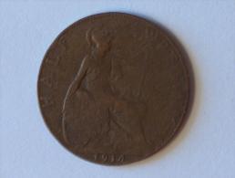 Grande-Bretagne 1/2 Half Penny 1914 - 1902-1971 : Monnaies Post-Victoriennes