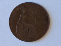 Grande-Bretagne 1/2 Half Penny 1921 A - 1902-1971 : Monnaies Post-Victoriennes