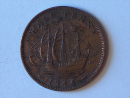 Grande-Bretagne 1/2 Half Penny 1944 A - 1902-1971 : Monnaies Post-Victoriennes