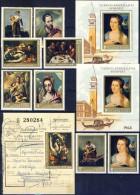 ##Q941. Hungary 1968. Spanish Art. Paintings. Michel 2409-16A + Block 64A+B. MNH(**). +fragment(o) - Hungary