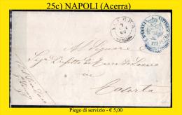 Acerra-00025c- Piego Di Servizio. - 1861-78 Vittorio Emanuele II