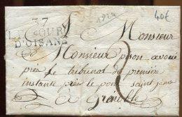 65790 - LAC 1824 MP 37/LE BOURG/D OISANS, 38 X 17,  Taxe 2 Pour Grenoble TB - 1801-1848: Precursors XIX