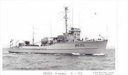 Batiment Militaire Reseda  Marine Nationale Dragueur  M 635 12-11-1975  Avec Equipage  Marius Bar - Guerre