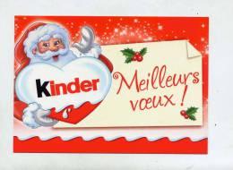 Carte De Voeux Kinder Theme Pere Noel - Otros