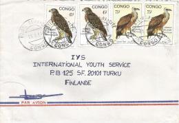 Congo 1993 Brazzaville Vulture Falcon Bird Of Prey Cover - Congo - Brazzaville