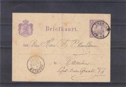 Pays Bas - Entier Postal De 1880 - Oblitération Zaandam Et Haarlem - Material Postal