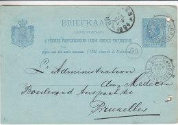 Pays Bas - Entier Postal De 1894 - Oblitération S'Gravenhage - Expédié Vers La Belgique - Material Postal