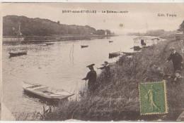 CPA 91 SOISY SOUS ETIOLLES Le Bateau Lvoir Pêcheurs à La Ligne - France