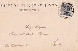 COMUNE DI BOARA PISANI  - VG 1923 PUBBLICITA- ADVERTISING- RECLAM WERBUNG AUTENTICA 100% - Pubblicitari
