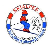 Autocollant Sticker / SKIALPES Le Collet D'Allevard - Isère / Ski Sport Station  // ADH 21/4 - Autocollants
