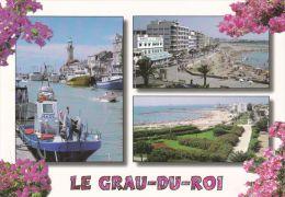 Cp , 30 , LE GRAU DU ROI , Multi-Vues - Le Grau-du-Roi