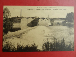87 Saillat - Usine De Papier Et De Boites D´allumettes Sur La Vienne - France