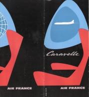 PUBLICITE #2 AIR FRANCE AFFICHE CARAVELLE AVIATION CIVILE AVION DU PROGRES 1958 ???