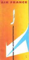 PUBLICITE #3 AIR FRANCE AFFICHE BOEING 707  INTERCONTINENTAL AVIATION CIVILE  1959 ???