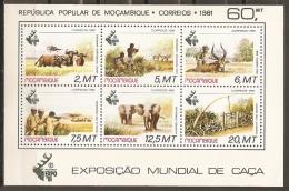 ANIMALES - MOZAMBIQUE 1981 - Yvert #H9 - MNH ** - Elefantes