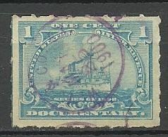 USA Ca 1900 Documentary Revenue Stamp Dienstmarke Der Schiff Ship O - Officials