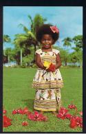 "RB 945 -Fiji Postcard - ""Elizabeth"" Young Girl Dressed In Sunday Best - Fiji"