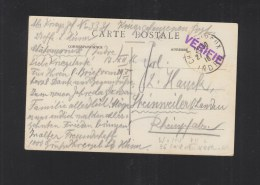 Carte Postale Prisonniers De Guerre Chateauroux 1916 - Poststempel (Briefe)