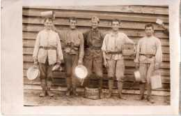 """Photo Originale D´un Groupe Au Camp De Souge  """"les 5 Bileux De Souge"""", Très Décontractés !! (20.42) - Guerre, Militaire"""