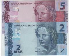 Brasil 5 Reais+2 Reais Notas Neuf (2010-2013) - Brazilië