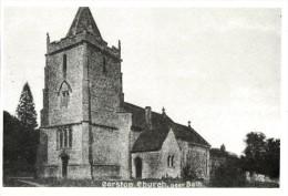 Postcard All Saints Corston BATH Edwardian Somerset Church Repro - Bath