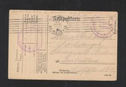 Depot Des Prissoniers De Guerre Place De Rouen Censure 1915 - Poststempel (Briefe)