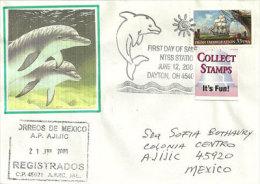 USA. Dauphins. Great Miami River, Enveloppe Souvenir, Lettre Adressée Au Mexique - Event Covers