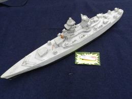 ANCIENNE MAQUETTE CUIRASSE RICHELIEU  - NAVIRE De LIGNE à Voir !!!!!!!!!!!!!!!!! - Boats