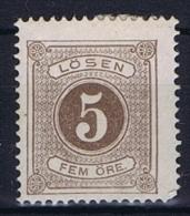 Sweden: 1877 Mi 3 A  MH/* Perfo 14, Postage Due - Strafport