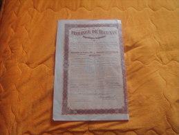 ACTION OU EMPRUNT REP. ARGENTINE A IDENTIFIER SANS N°VIERGE / ANNEE 1909 PROVINCE DE TUCUMAN / EMPRUNT EXTERIEUR 5% / - Other