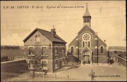 Cp Liévin Pas De Calais, Vue Générale De L'Eglise De Calonne Liévin - Autres Communes