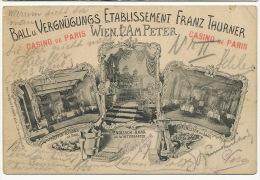 Wien Etablissement Franz Thurner Ball Casino De Paris French Cancan Advert Havana Cigars  Edit Ungar - Autres