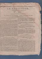 LE REDACTEUR 28 05 1796 - AMERIQUE - DIRECTOIRE - FETE DE LA VICTOIRE - CONSEIL DES CINQ CENTS - Zeitungen