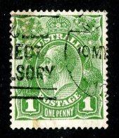 1691x)  Australia 1926 - Sc #67   Used  ( Catalogue $1.10) - 1913-36 George V: Heads