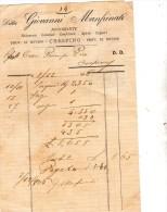 1906 DITTA GIOVANNI MANFRINATI NEGOZIANTE LIQUORI CRESPINO ROVIGO - Italia